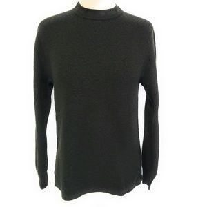 J CREW Dark Moss 100% Merino Wool Sweater M